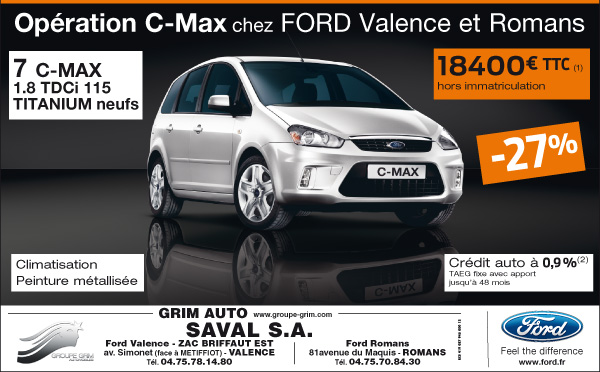Op ration c max chez ford valence et romans ford grim for Garage ford saval valence