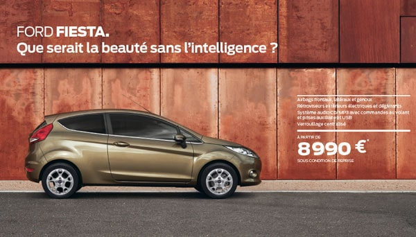 Actuellement la ford fiesta est partir de 8990 ford for Garage ford saval valence