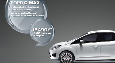 Le FORD C-MAX Ecoboost 100cv est à 16.990 €* TTC