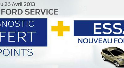 Duo Ford service du 16 Mars au 26 avril 2013