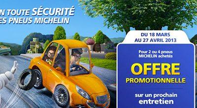 Offre pneus Michelin du 18 mars au 27 avril