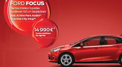 FORD FOCUS Techno Edition 5 portes EcoBoost à 14.990 €