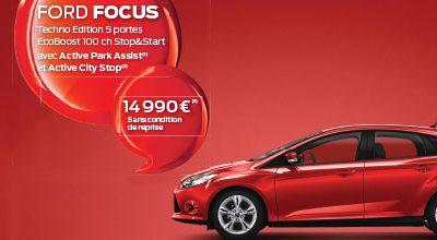 FORD FOCUS Techno Edition 5 portes EcoBoost à 14.990 €