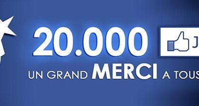 """20.000 """"j'aime"""" sur Facebook"""