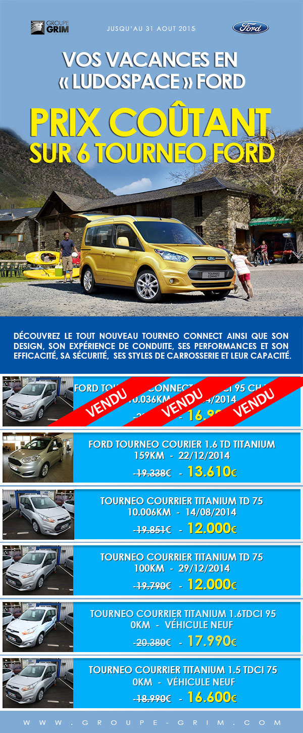 Vos vacances en ludospace ford prix co tant sur 6 for Garage ford saval valence