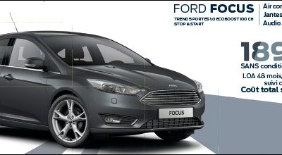 FORD FOCUS A PARTIR DE 189€/MOIS sans condition de reprise