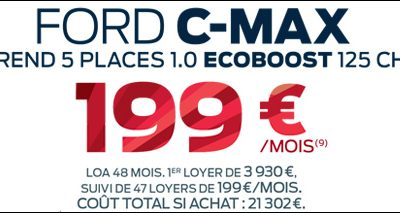 Ford C-MAX 1.0 Ecoboost 125ch à 199€/mois