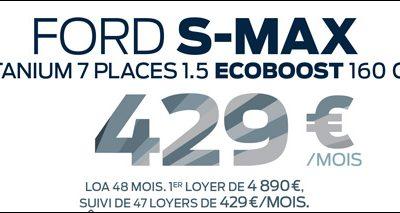 Ford S-MAX TITANIUM 7 places à 429€/mois