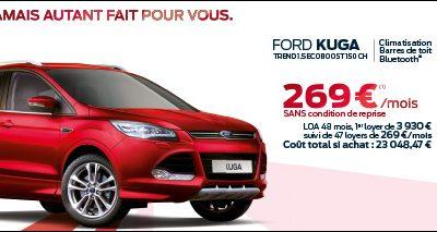 Ford KUGA à partir de 269€/mois sans condition de reprise