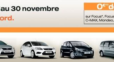 En Novembre, Ford vous offre la TVA !!