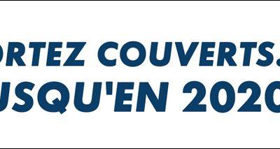 Sortez couverts…jusqu'en 2020 !