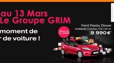 Offres exceptionnelles GRIM jusqu'au 13 MARS
