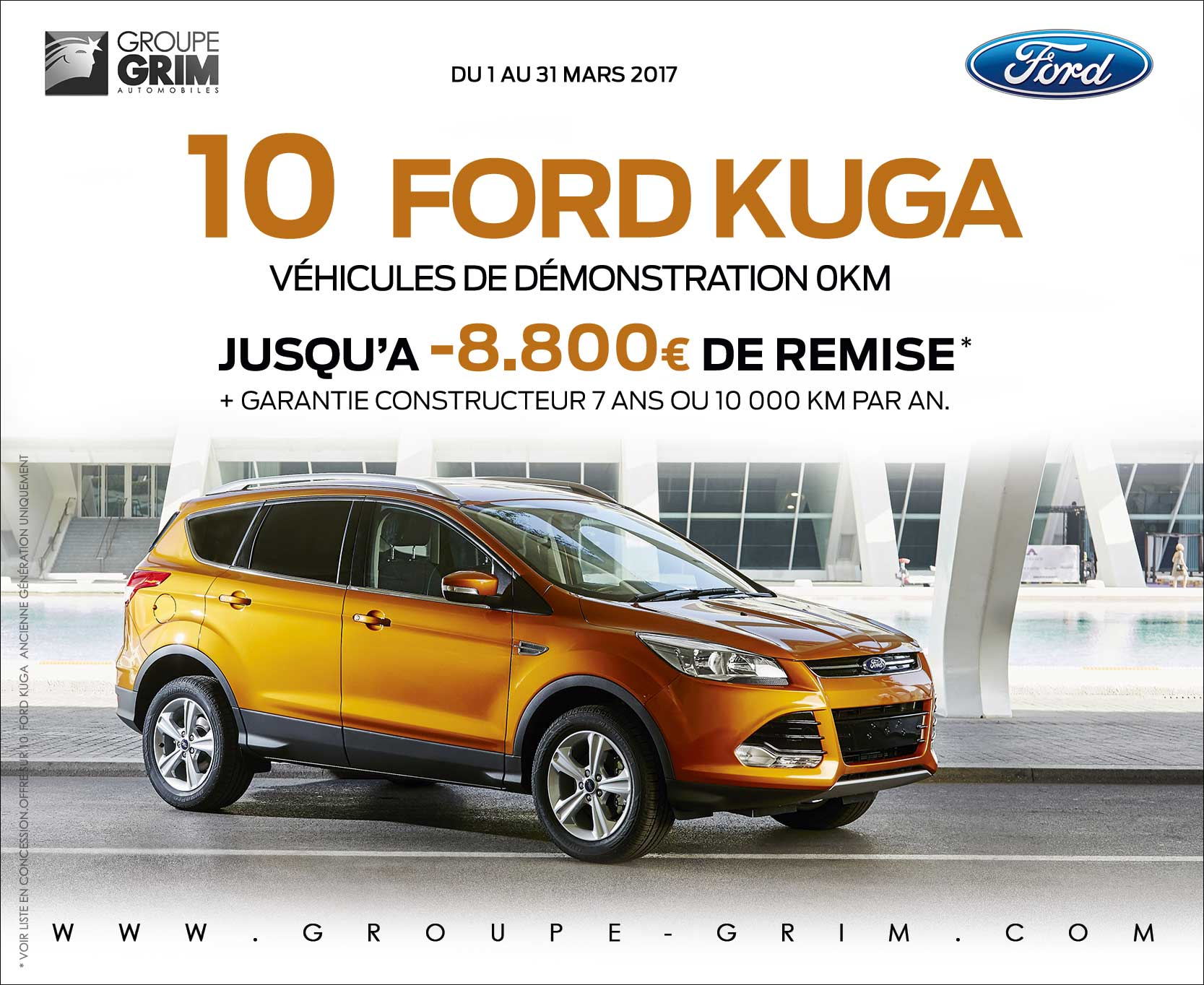 Destockage sur 10 ford kuga ford grim auto savab for Garage ford saval valence
