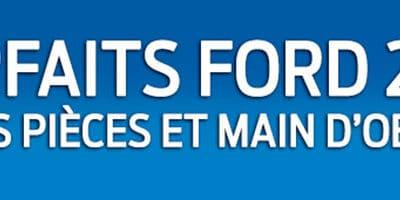 TARIFS PIÈCES ET MAIN D'ŒUVRE FORD 2017