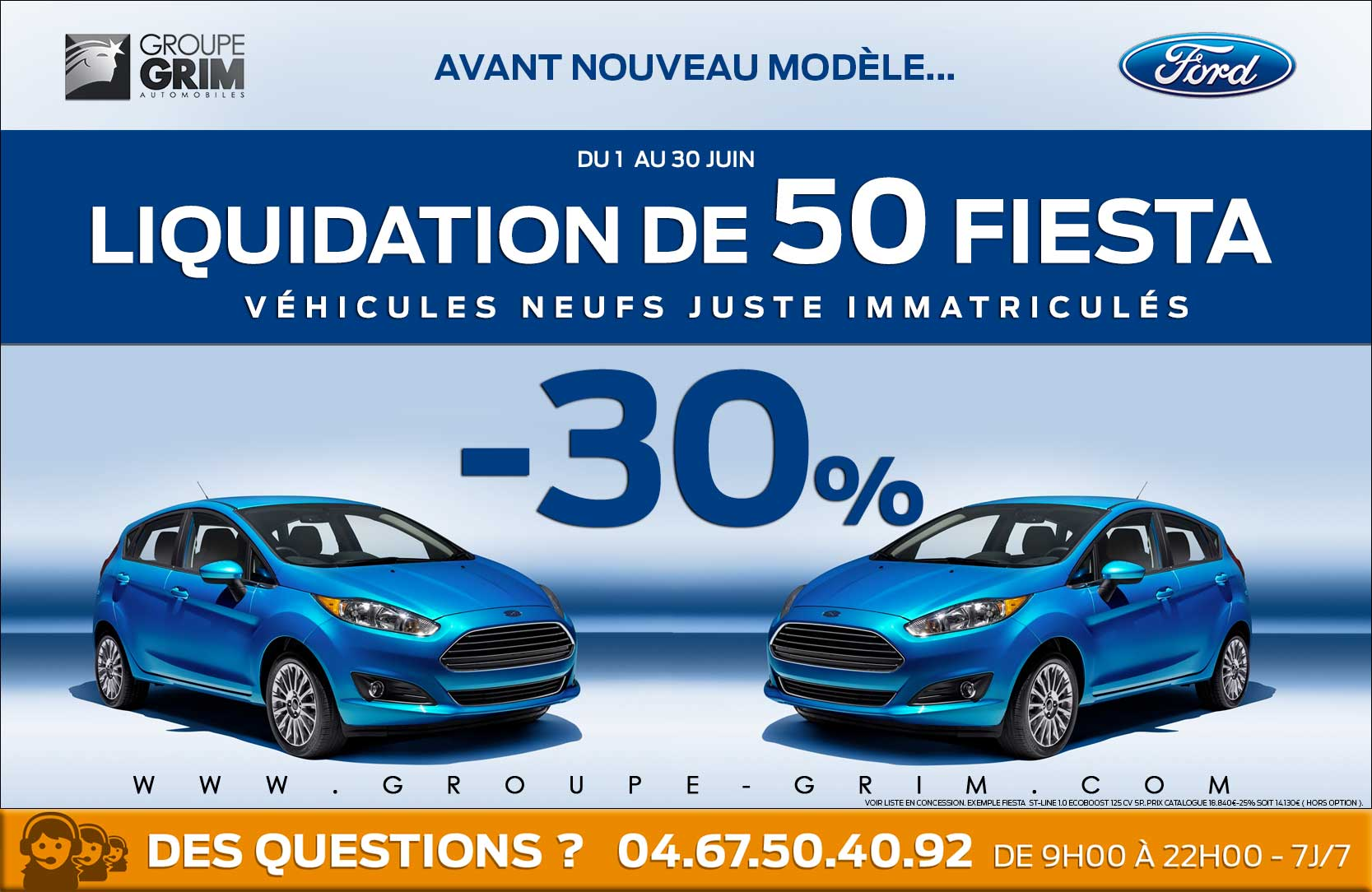 liquidation 50 ford fiesta montpellier valence beziers 1213 2 groupe grim ford. Black Bedroom Furniture Sets. Home Design Ideas