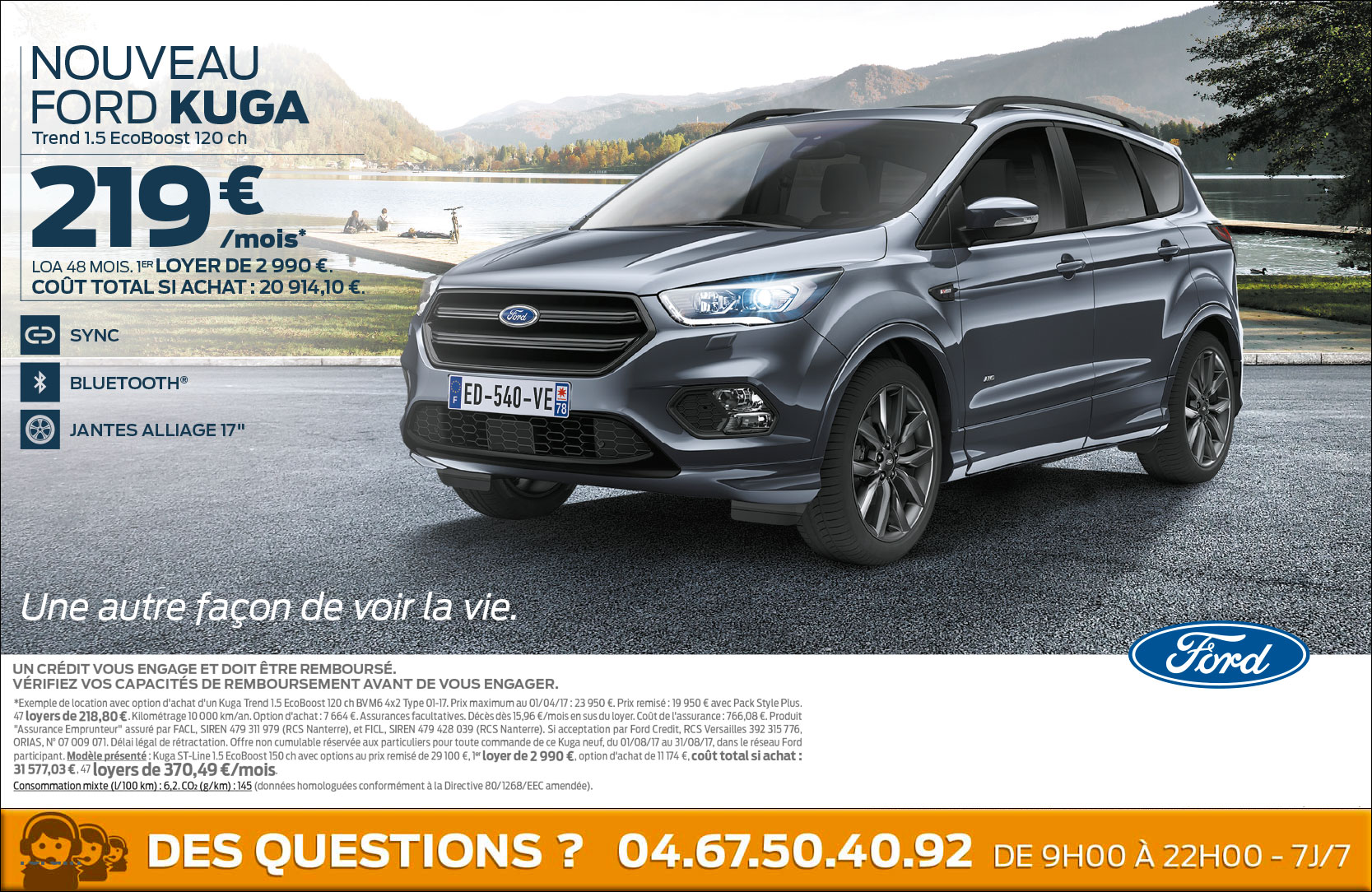 nouveau ford kuga 219 mois ford grim auto savab saval fordstore ford rodez. Black Bedroom Furniture Sets. Home Design Ideas