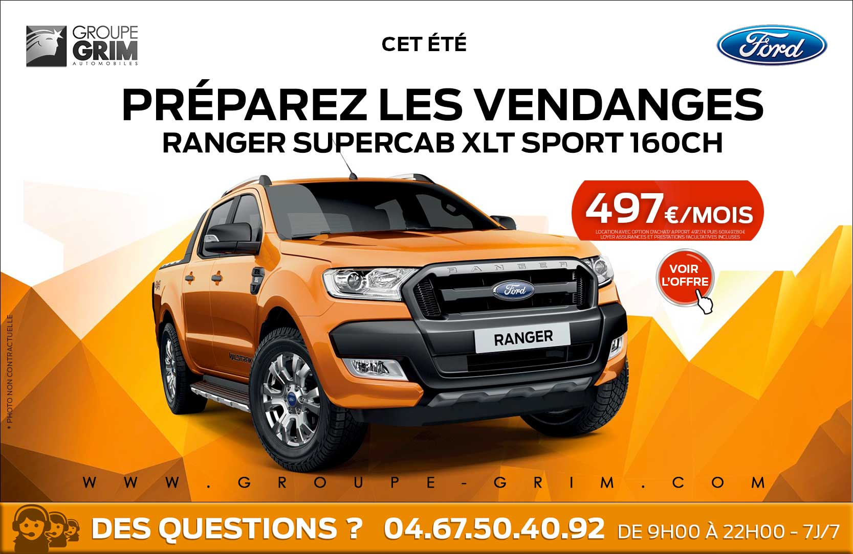 ford ranger montpellier valence beziers 3 groupe grim ford. Black Bedroom Furniture Sets. Home Design Ideas