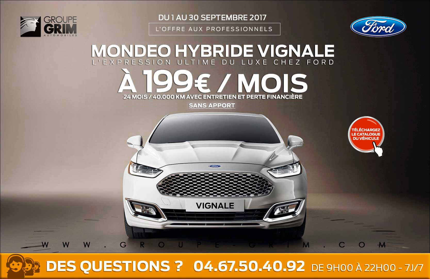 mondeo hybride 199 moisvignale 1 1 2 groupe grim ford. Black Bedroom Furniture Sets. Home Design Ideas