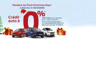 FORD CHRISTMAS DAYS : Crédit auto à 0%