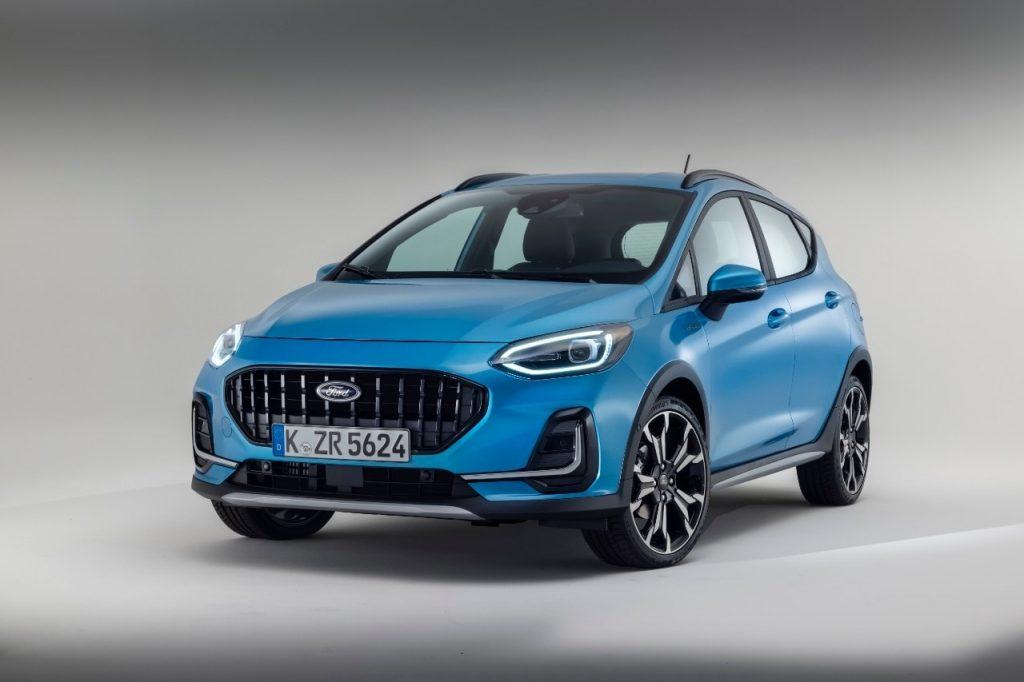 Nouvelle Ford Fiesta active bleu 2021