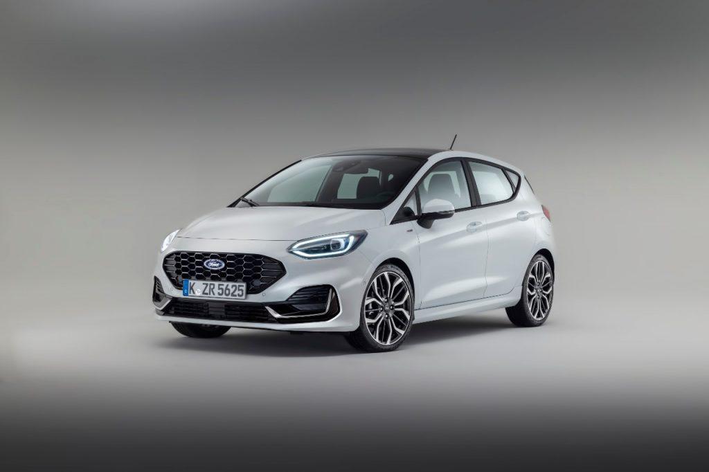 Nouvelle Ford Fiesta 2021 blanche de face