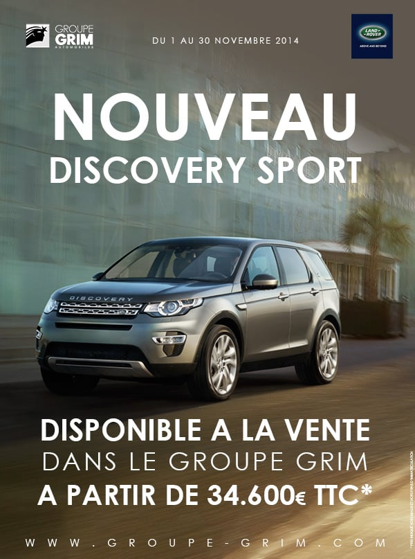 nouveau discovery sport a partir de ttc jaguar montpellier land rover montpellier. Black Bedroom Furniture Sets. Home Design Ideas