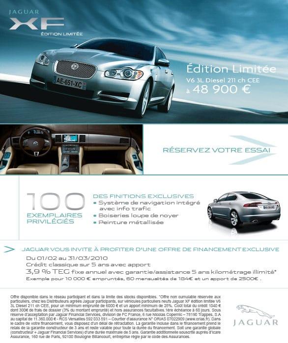 jaguar xf 210cv en s rie limit e disponible chez prestige automobile montpellier jaguar. Black Bedroom Furniture Sets. Home Design Ideas