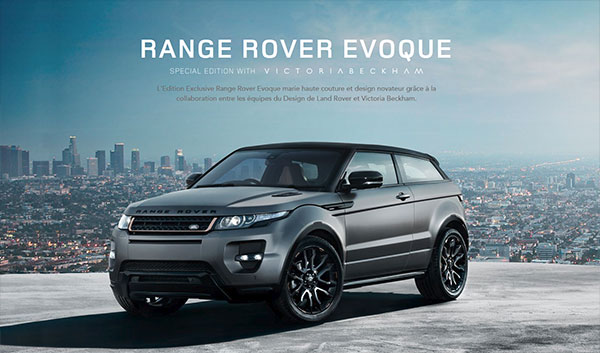 range rover evoque edition sp ciale victoria beckham jaguar montpellier land rover. Black Bedroom Furniture Sets. Home Design Ideas