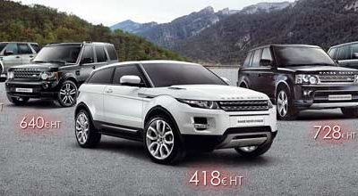 La gamme Land Rover en Location Longue Durée