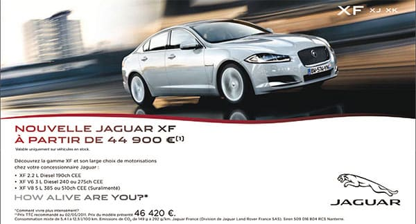 la nouvelle jaguar xf chez prestige automobile montpellier est partir de 44900 jaguar. Black Bedroom Furniture Sets. Home Design Ideas
