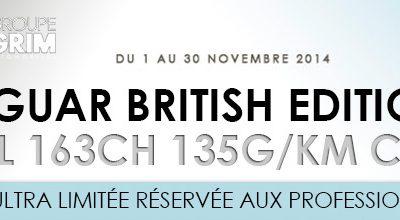 Offre ENTREPRISE : JAGUAR BRITISH EDITION 2.2L 163CH 135g/km CO²
