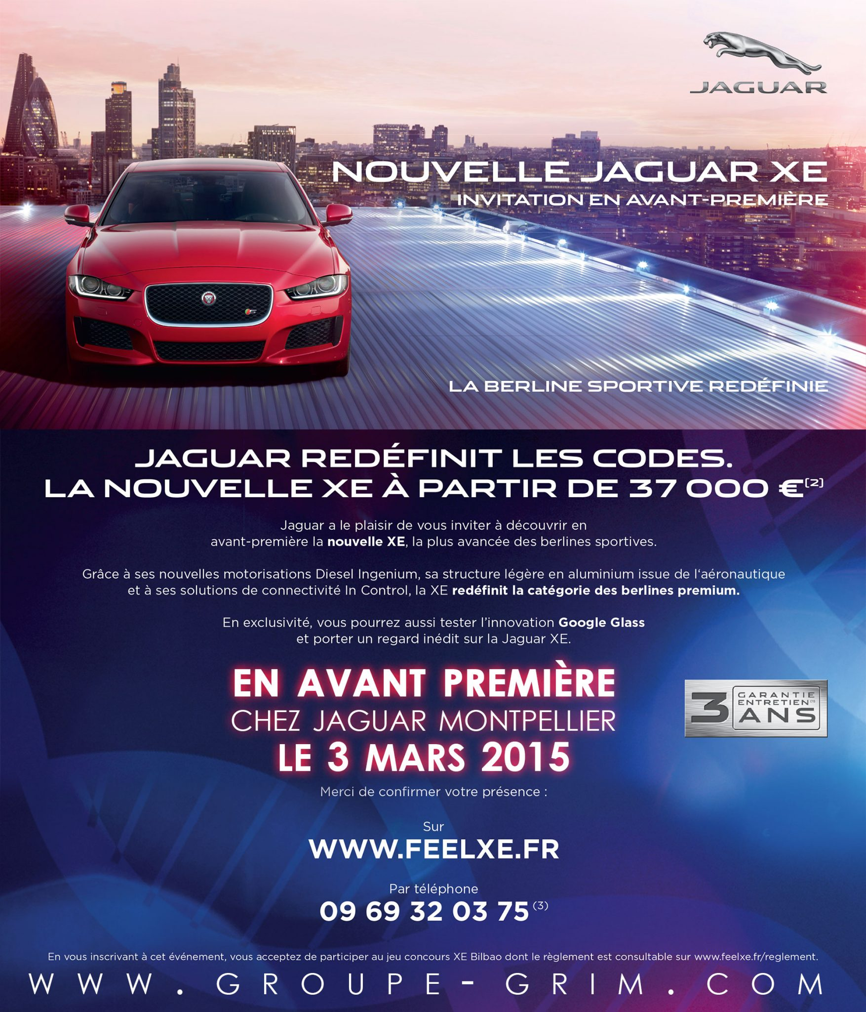 nouvelle jaguar xe invitation en avant premi re. Black Bedroom Furniture Sets. Home Design Ideas
