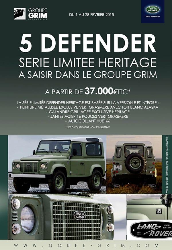 5 defender heritage a saisir jaguar montpellier land rover montpellier land rover n mes. Black Bedroom Furniture Sets. Home Design Ideas