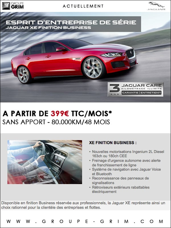 jaguar xe business a partir de 399 mois sans apport jaguar montpellier land rover. Black Bedroom Furniture Sets. Home Design Ideas