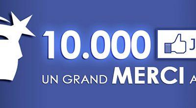 """10.000 """"j'aime"""" sur Facebook"""