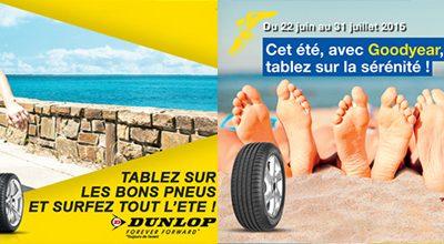 Une Tablette Samsung offerte pour l'achat de 4 pneus * Goodyear / Dunlop