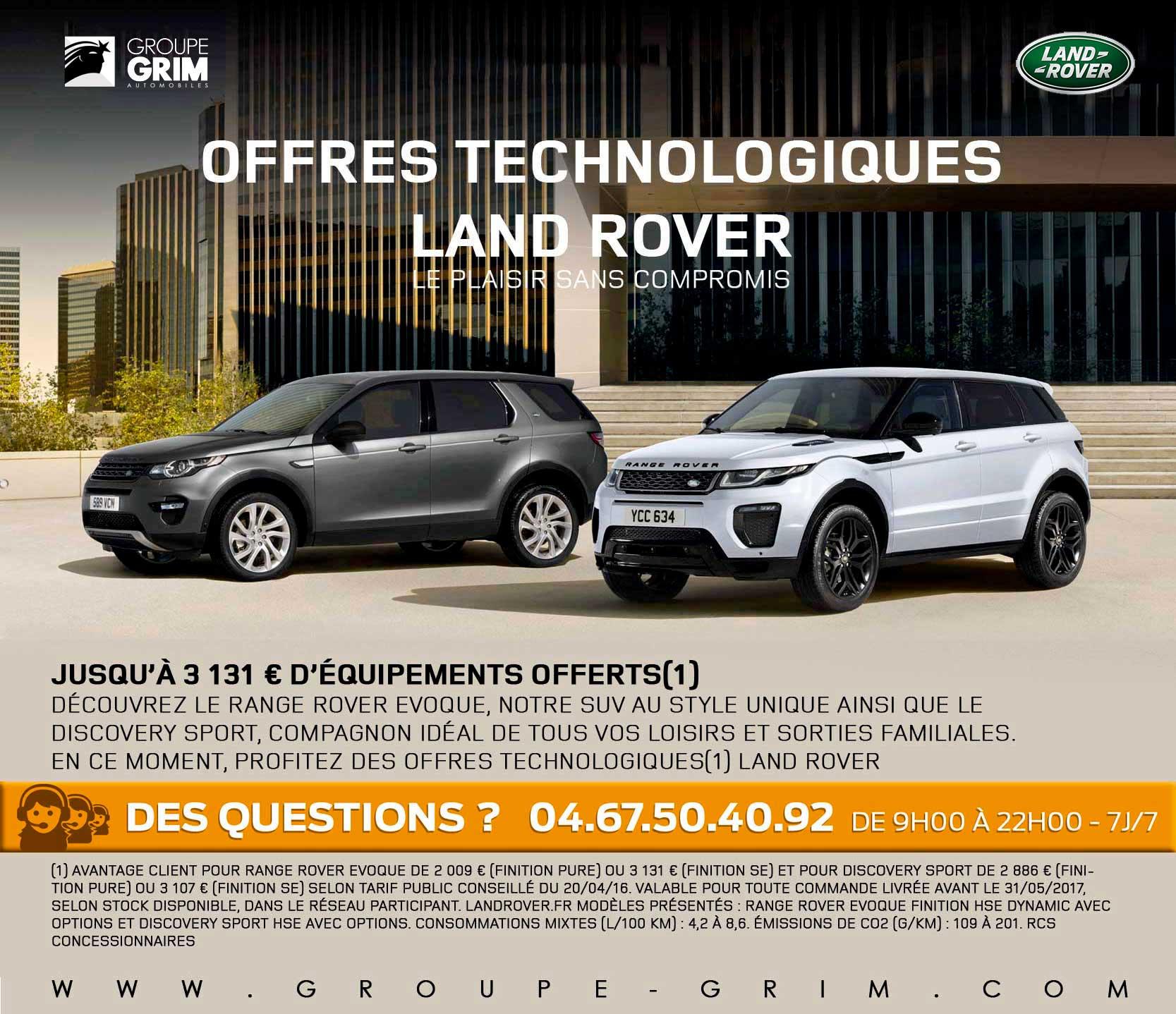 offres technologiques land rover jaguar montpellier land rover montpellier land rover n mes. Black Bedroom Furniture Sets. Home Design Ideas