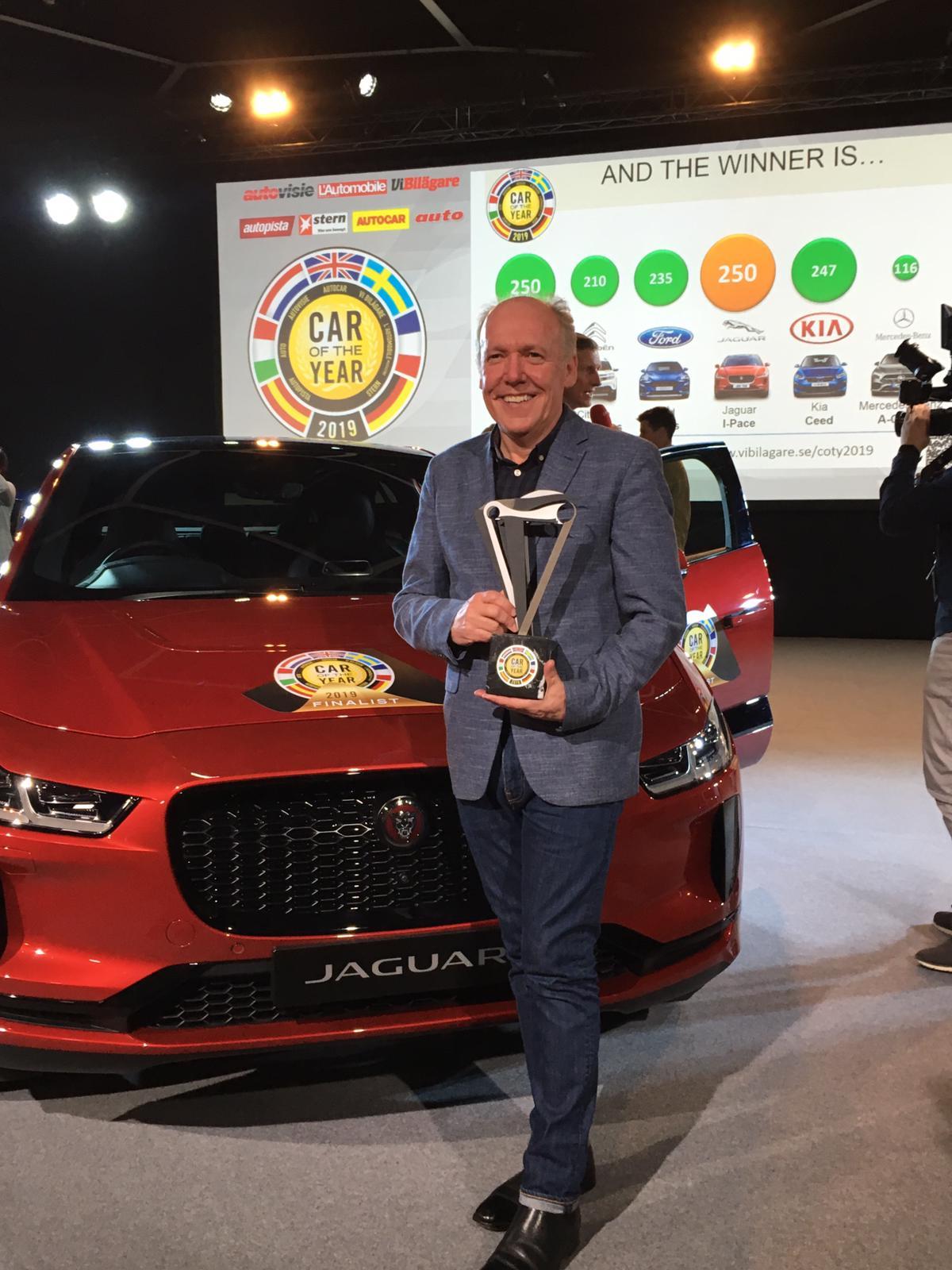 jaguar i-pace élue voiture européenne de l'année