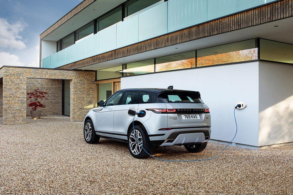 range rover evoque hybride rechargeable