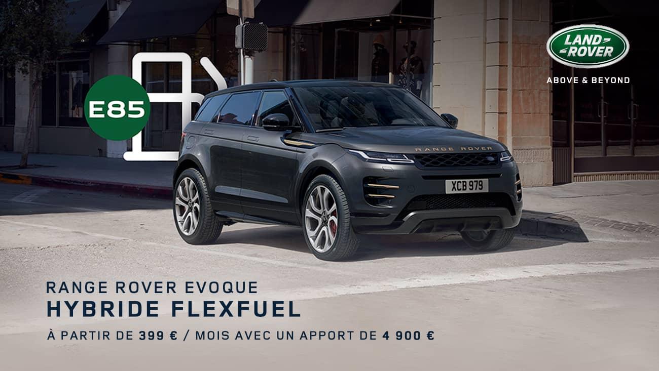 offre range rover evoque hybride flexfuel