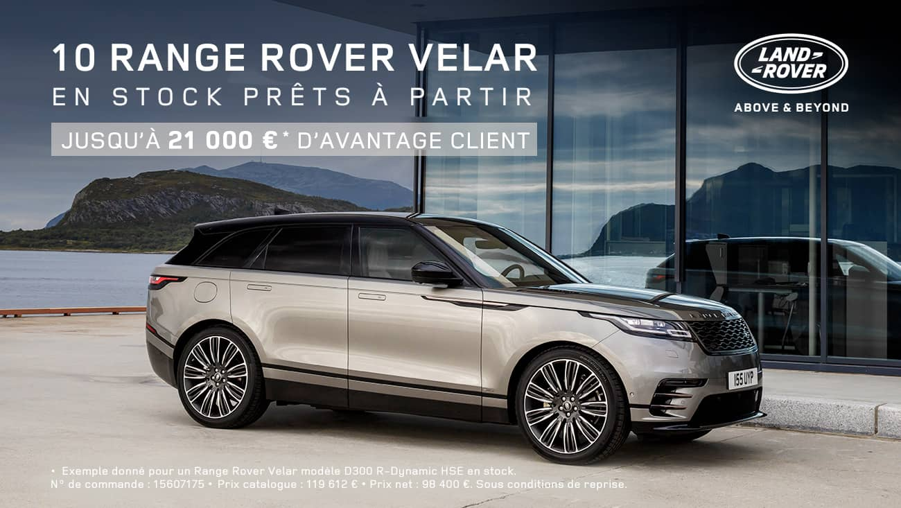 offre range rover velar