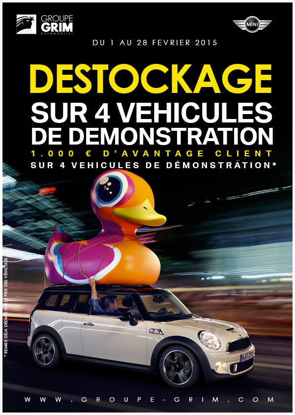 destockage sur 4 vehicules de demonstration mini. Black Bedroom Furniture Sets. Home Design Ideas