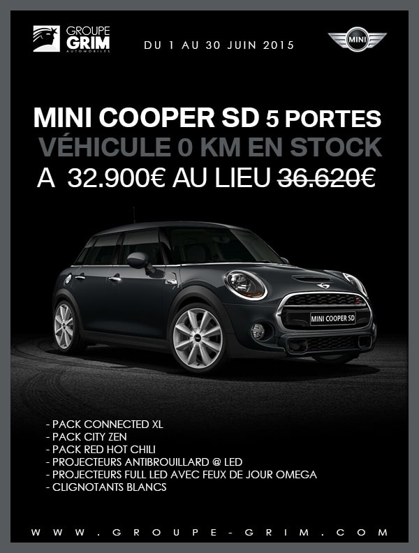 affaire mini cooper sd 5 portes mini montpellier grim passion. Black Bedroom Furniture Sets. Home Design Ideas