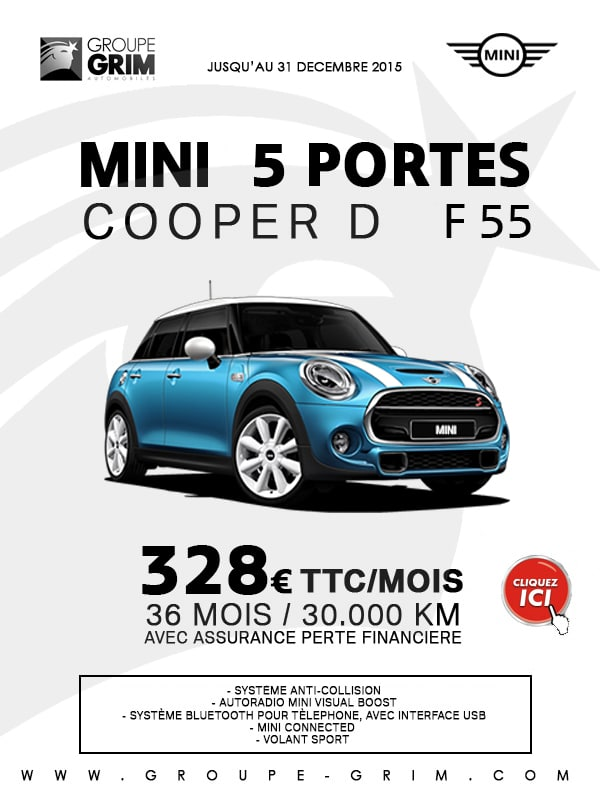 offre entreprise mini cooper d f55 328 mois grim passion mini montpellier. Black Bedroom Furniture Sets. Home Design Ideas