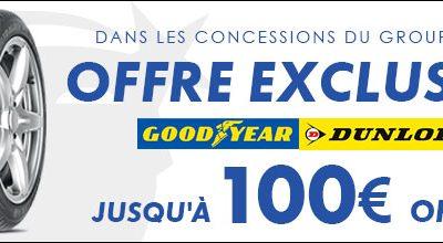 OFFRE PNEU EXCLUSIVE : JUSQU'A 100€ OFFERTS